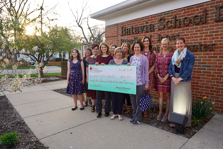 <p>Celebration time! The Batavia Foundation for Educational Excellence awarded eight grants to teachers at the May 1 Board Meeting.</p>